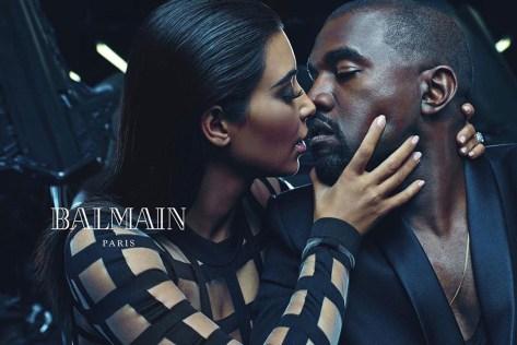 Kim Kanye West Balmain