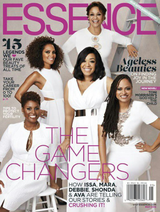 #WomenOnTop : Shonda Rhimes, Mara Brock Akil, Ava DuVernay, Debbie Allen and Issa Rae Cover Essence Magazine's May 2015 Issue