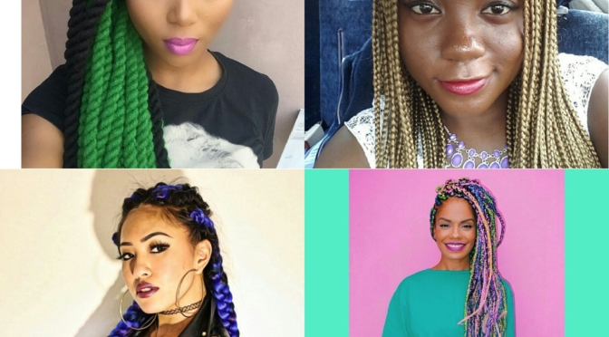 #Trends – Coloured Braids