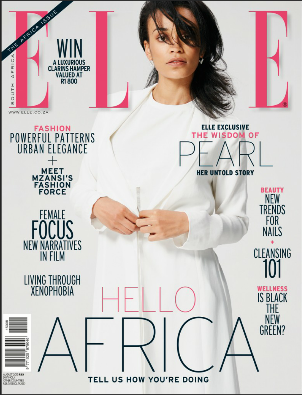 July 2015 yaa somuah for Elle magazine this month