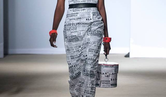 When Newspaper Headlines Become Fashion! Interesting Pieces from Kampala Fashion Week 2015