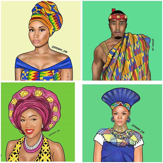 How Ghanaian Fashion Illustrator Denny Owusu Became An Internet Sensation