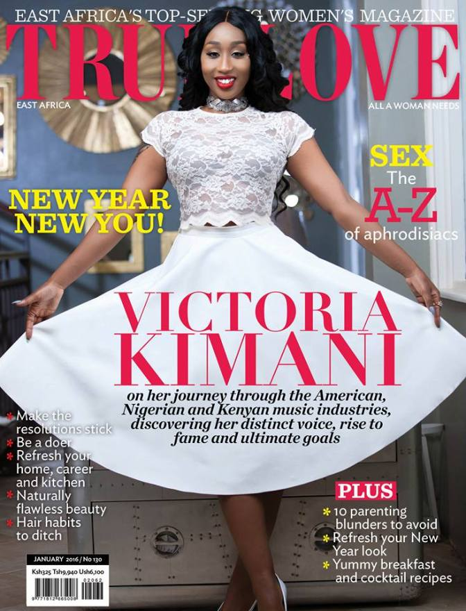 East African Beauty Victoria Kimani Covers True Love Magazine