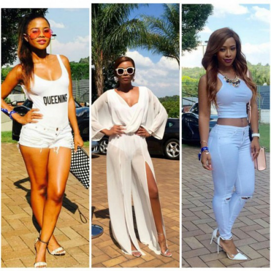 Bonang Matheba, AKA, Boity & More Dazzle In All White @ Da L.E.S'S Party