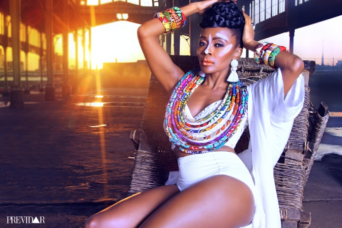 Thembi Seete Is A True African Warrior In The Latest Issue Of Previdar Magazine