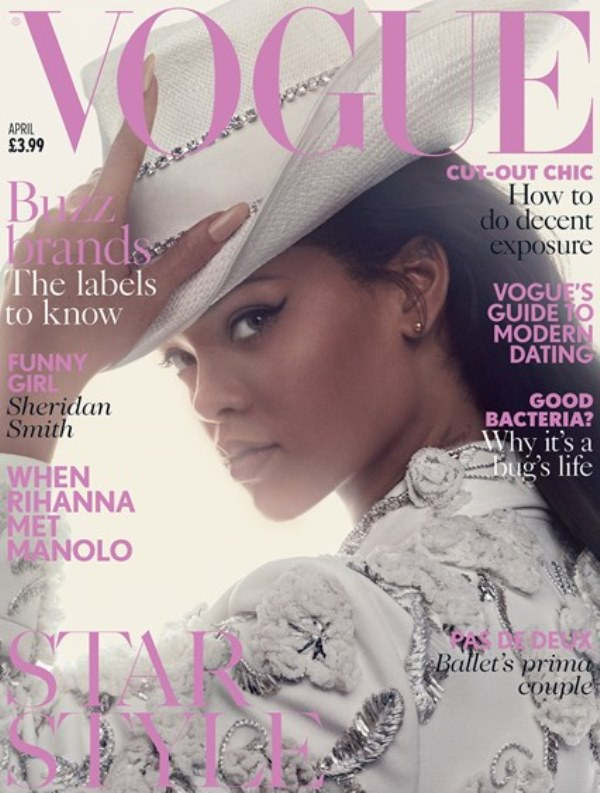 Rihanna Is A Stylish Cowgirl On The Latest British Vogue Cover