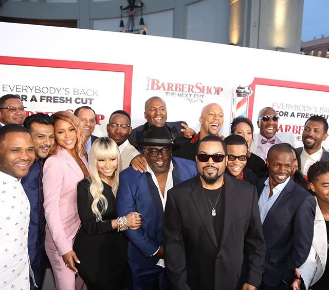 Barbershop Is Back! Checkout Nicki Minaj, Ice Cube, Eve & More At The Movie Premiere Of Barbershop: The Next Cut