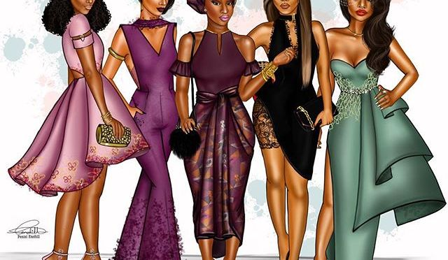 The Perfect Wedding Guest : Here Are Some Hot Outfit Ideas By Ghanaian Fashion Illustrator Peniel Enchill