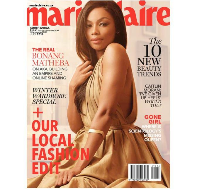 Hot Shots: Bonang Matheba Covers Marie Claire Magazine's July Issue