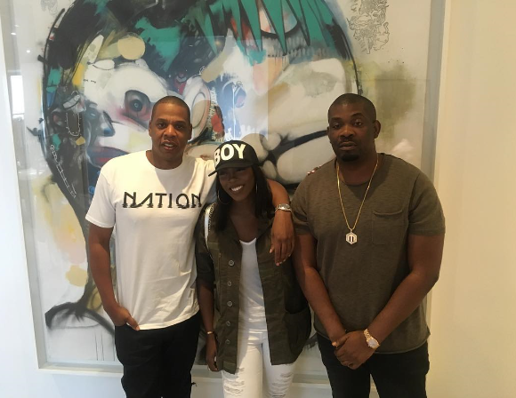 Photos: Tiwa Savage & Don Jazzy Hang Out With Jay Z