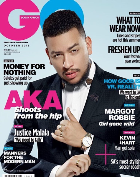 Hip-Hop Star AKA Covers GQ South Africa's October 2016 Issue