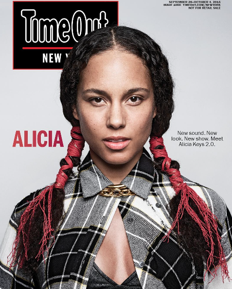 Alicia Keys Still Looking Flawless With No Makeup! Peep Her Latest Cover For Time Out New York