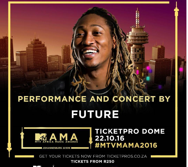 Rapper Future To Headline The 2016 MTV Africa Music Awards (MAMAs)