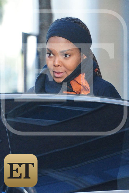 Pregnant Mama Janet Jackson Spotted Out And About In London