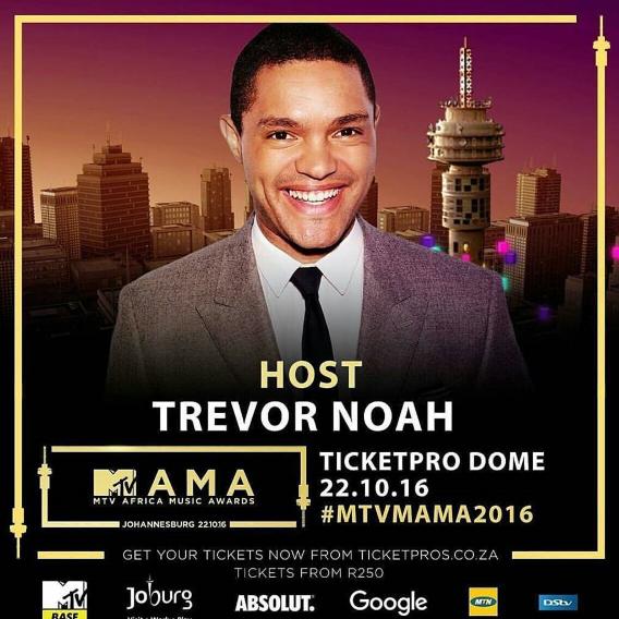 Trevor Noah To Host The 2016 MTV Africa Music Awards (MAMAs)