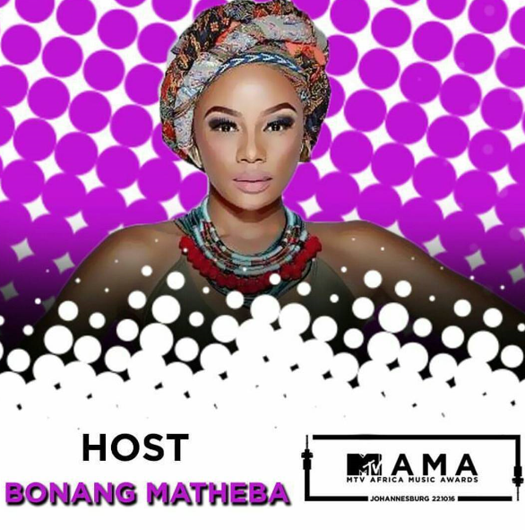 Bonang Matheba Replaces Trevor Noah As The New Host Of The MTV Africa Music Awards 2016 (MAMAs)