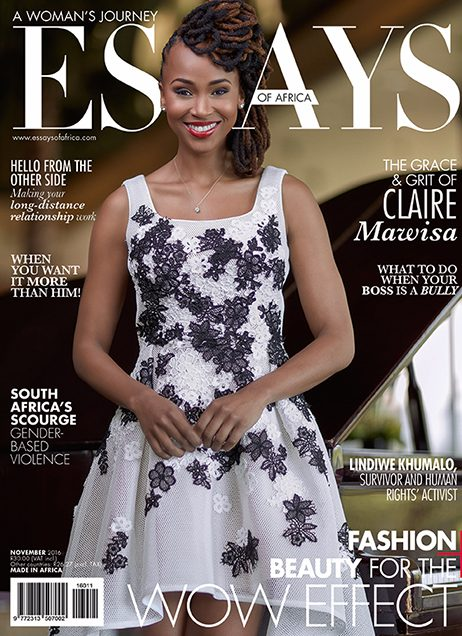 Fabulous! South African Model & Media Star Claire Mawisa Is The Cover Girl For Essays of Africa