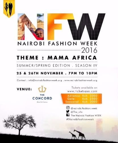 Nairobi Fashion Week 2016 To Take Place This November