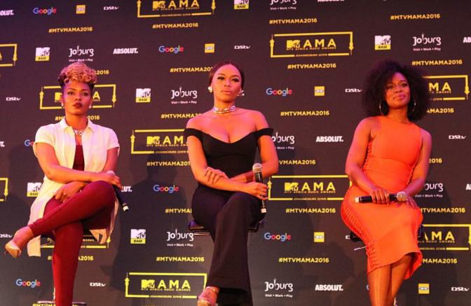 Girl Power: Yemi Alade & Nomzamo Mbatha Join Bonang Matheba As Co-Hosts For The 2016 MAMAs