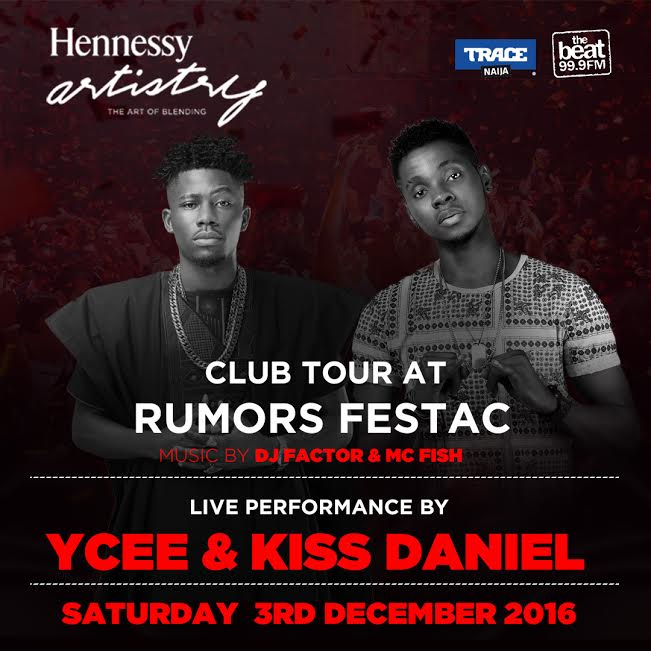 Weekend Event: Ycee and Kiss Daniels Joins Hennessy Club Tour In Nigeria