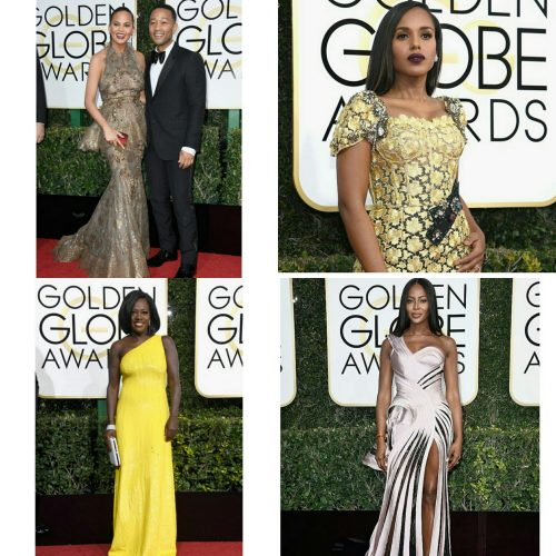 Fabulous Fashion Moments At The 2017 Golden Globes: Viola Davis, Pharrell, Kerry Washington & More