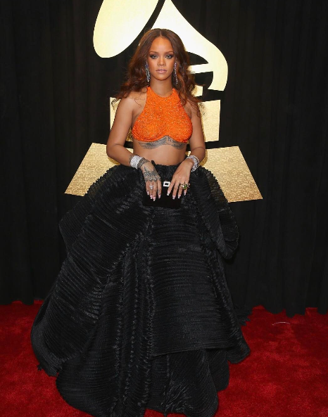 Fabulous Fashion Moments At The 59th Annual GRAMMY Awards: JLO, Rihanna, Adele & More