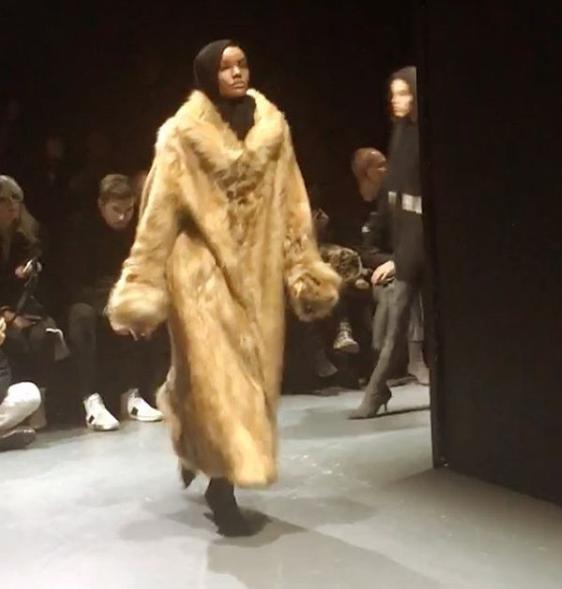 Somali-American Model Halima Aden Makes Headlines After Rocking Her Hijab At Kanye West's Fashion Show