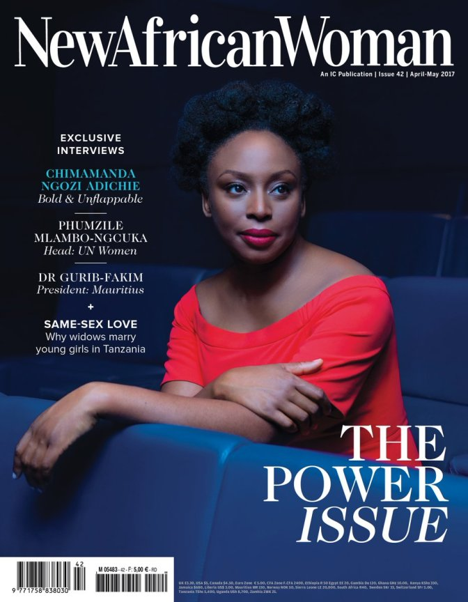 Bold & Fierce! Chimamanda Ngozi Adichie Covers New African Woman Magazine