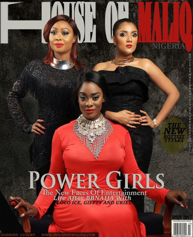 Hot Shots: Evicted Big Brother Naija Housemates Uriel, Coco Ice, Kemen, Gifty & Miyonse Reunite On The Cover of  House of Maliq Magazine