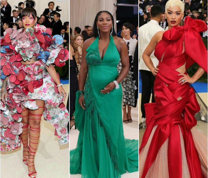 Fabulous Fashion Moments At The MET Gala 2017: Rihanna, Jlo, Serena Williams, Diddy & More