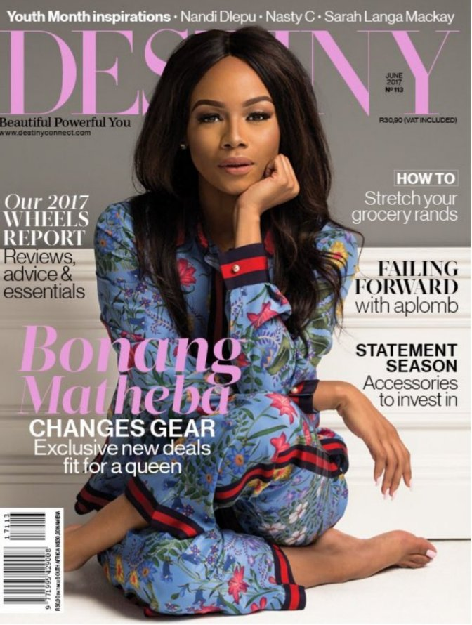 Bonang Matheba Covers Destiny Magazine. Here Is What Went Down Behind The Scenes